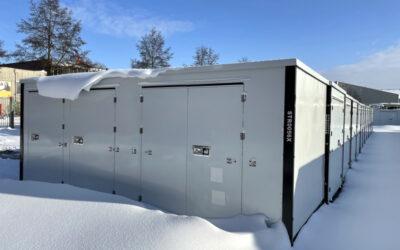 Die Z-Box gegen stundenlangfallenden Schnee